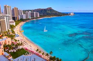 ハワイ ワイキキビーチの写真素材 [FYI00632685]