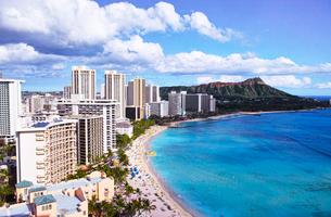 ハワイ ワイキキビーチの写真素材 [FYI00632688]
