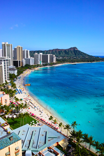 ハワイ ワイキキビーチの写真素材 [FYI00632689]