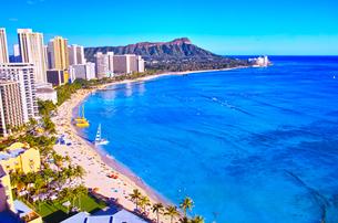 ハワイ ワイキキビーチの写真素材 [FYI00632692]