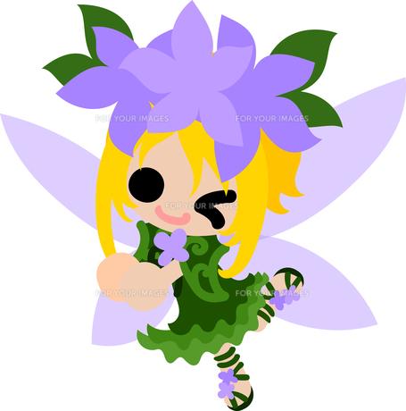 花の可愛い妖精のイラストのイラスト素材 [FYI00632884]