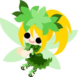 花の可愛い妖精のイラストのイラスト素材 [FYI00632890]