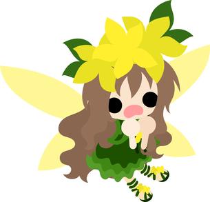 花の可愛い妖精のイラストのイラスト素材 [FYI00632895]