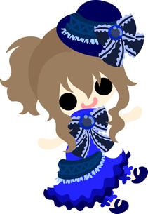 お洒落な服を着た女の子のイラストのイラスト素材 [FYI00633088]