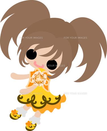 お洒落な服を着た女の子のイラストのイラスト素材 [FYI00633090]