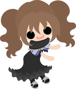お洒落な服を着た女の子のイラストのイラスト素材 [FYI00633091]