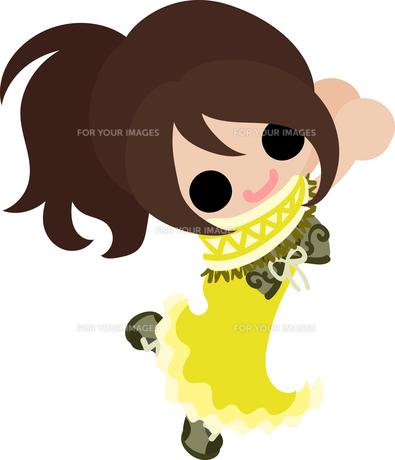 お洒落な服を着た女の子のイラストのイラスト素材 [FYI00633100]