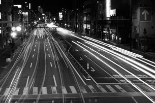 車の光跡の写真素材 [FYI00633179]