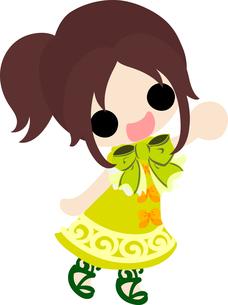 お洒落な服を着た女の子のイラストのイラスト素材 [FYI00633305]