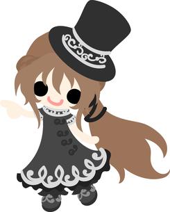 お洒落な服を着た女の子のイラストのイラスト素材 [FYI00633311]