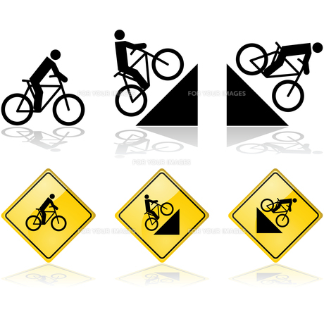 Bicycle signsの素材 [FYI00633418]