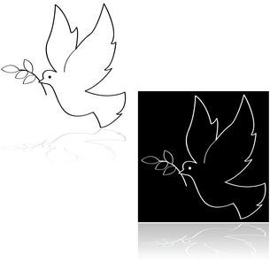 Peace doveの写真素材 [FYI00633419]