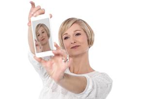It's time for selfie !の写真素材 [FYI00633536]