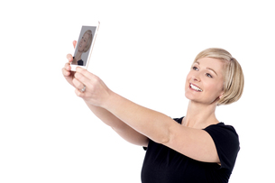 Let's take a selfie !の写真素材 [FYI00633551]