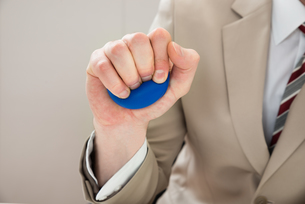 Businessperson Hand With Stressballの素材 [FYI00634294]