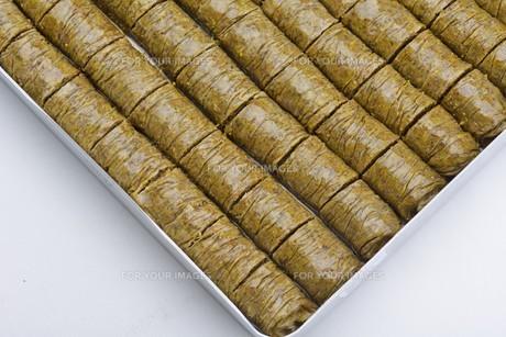 Turkish pastry kadaifの写真素材 [FYI00634607]
