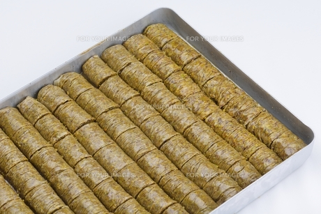 Turkish pastry kadaifの写真素材 [FYI00634609]