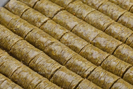 Turkish pastry kadaifの写真素材 [FYI00634611]