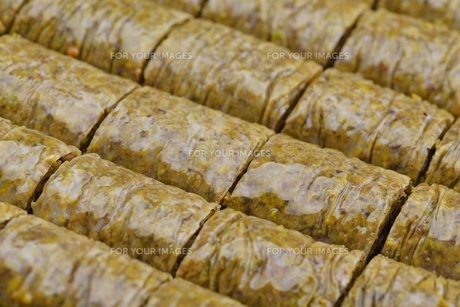 Turkish pastry kadaifの写真素材 [FYI00634612]