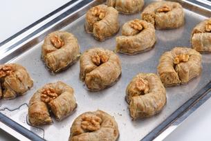 Turkish pastry kadaifの写真素材 [FYI00634615]