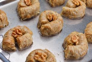 Turkish pastry kadaifの写真素材 [FYI00634616]