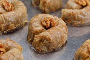 Turkish pastry kadaifの写真素材 [FYI00634617]