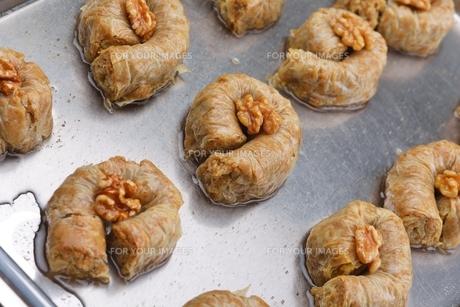 Turkish pastry kadaifの写真素材 [FYI00634620]