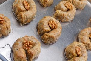 Turkish pastry kadaifの写真素材 [FYI00634621]