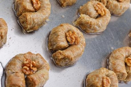 Turkish pastry kadaifの写真素材 [FYI00634622]