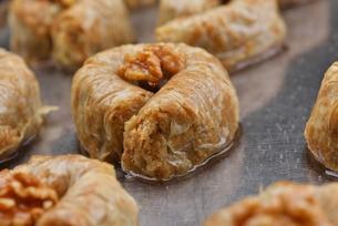Turkish pastry kadaifの写真素材 [FYI00634625]