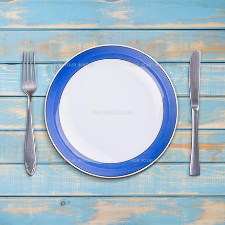Blank plateの写真素材 [FYI00634827]