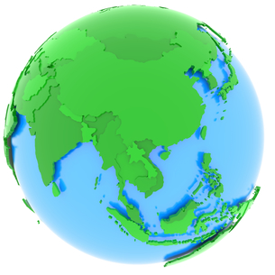 Asia on Earthの写真素材 [FYI00634858]