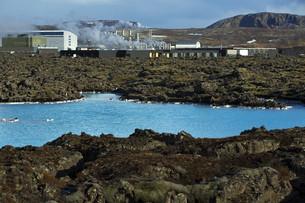 Geothermal bath Blue Lagoon in Icelandの写真素材 [FYI00635265]
