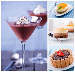 Dessert Collageの写真素材 [FYI00635373]