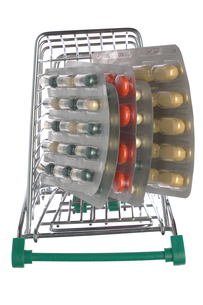 Top view shopping cart with different pillsの写真素材 [FYI00635681]