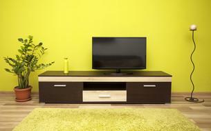 Modern living room interiorの写真素材 [FYI00635778]