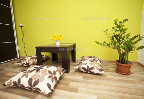 Modern living room interiorの写真素材 [FYI00635784]