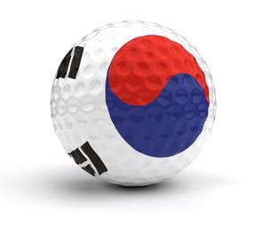 South Korean Golf Ballの写真素材 [FYI00635980]