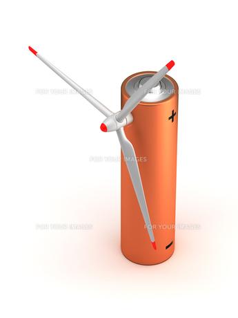 Wind Turbine Batteryの写真素材 [FYI00635984]