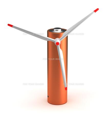 Wind Turbine Batteryの写真素材 [FYI00635985]