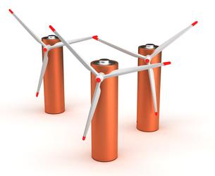 Wind Turbine Batteriesの写真素材 [FYI00635996]