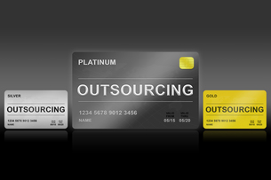 planning outsourcing cardの写真素材 [FYI00636252]