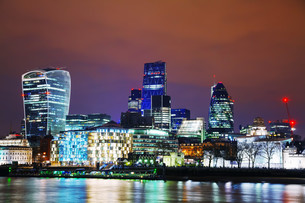 Financial district of the City of Londonの写真素材 [FYI00636322]