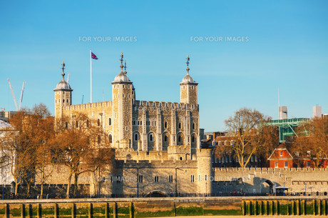 Tower fortress in Londonの写真素材 [FYI00636364]