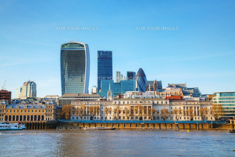 Financial district of London cityの写真素材 [FYI00636365]