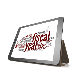 Fiscal policy word cloud on tabletの素材 [FYI00636456]