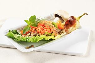 Vegetarian dishの写真素材 [FYI00636562]