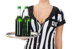 Close-up Of Referee Holding Drinksの素材 [FYI00636755]