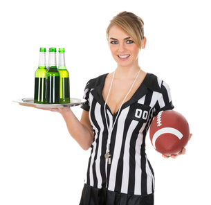 Referee With Drinks And Rugby In Handの素材 [FYI00636756]