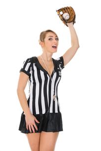Referee With Baseball Bat And Ballの素材 [FYI00636772]